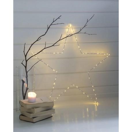 grande etoile lumineuse avec ampoules led metal blanc sirius liva star 31280