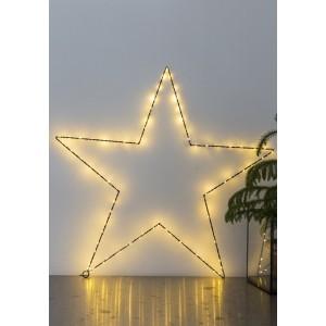 etoile ampoules led lumineuse metal noir sirius liva star 33280