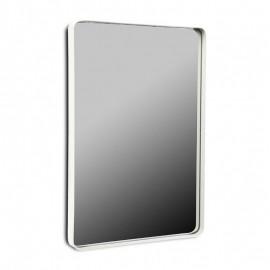Miroir mural rectangulaire métal blanc 60 x 40 cm Versa