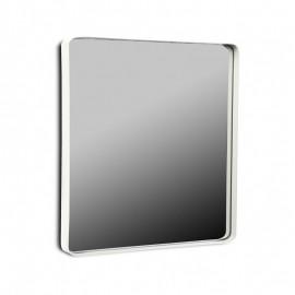 Miroir mural carré cadre métal blanc 50 x 50 cm Versa
