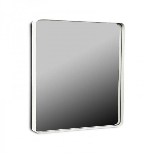 Miroir mural carre cadre metal blanc 50 x 50 cm versa 20850004 for Miroir carre blanc