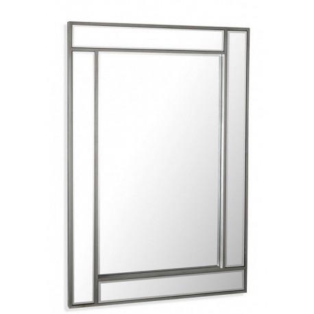 Miroir mural decoratif rectangulaire style metal versa for Miroir decoratif