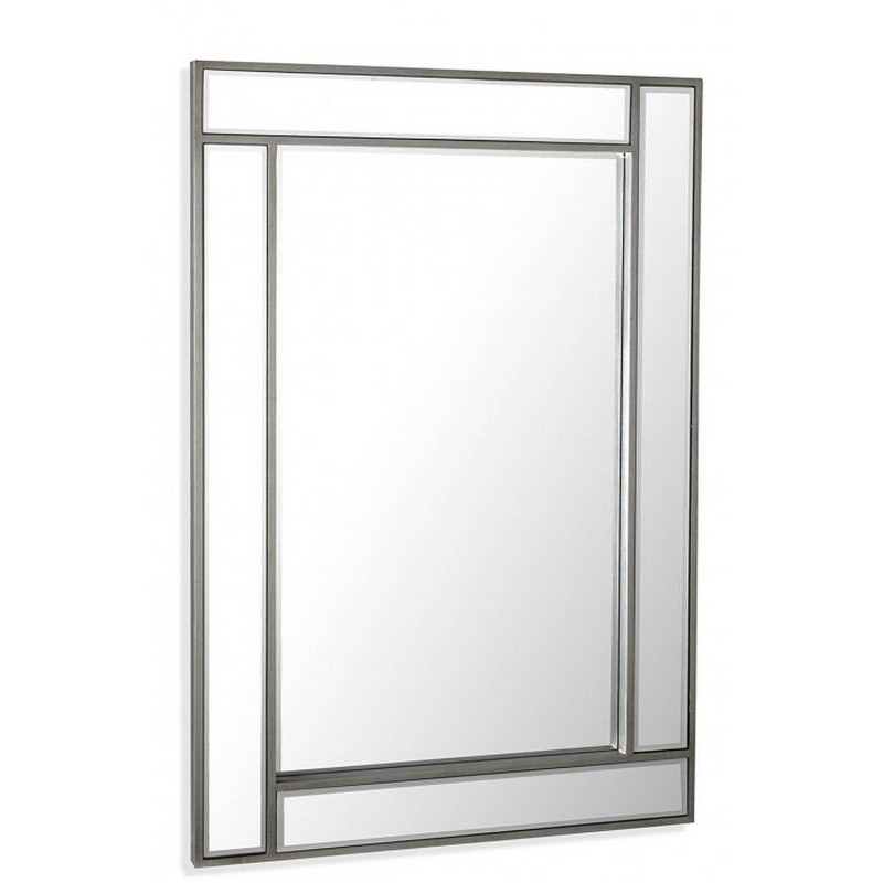 Miroir mural decoratif rectangulaire style metal versa for Miroir rectangulaire