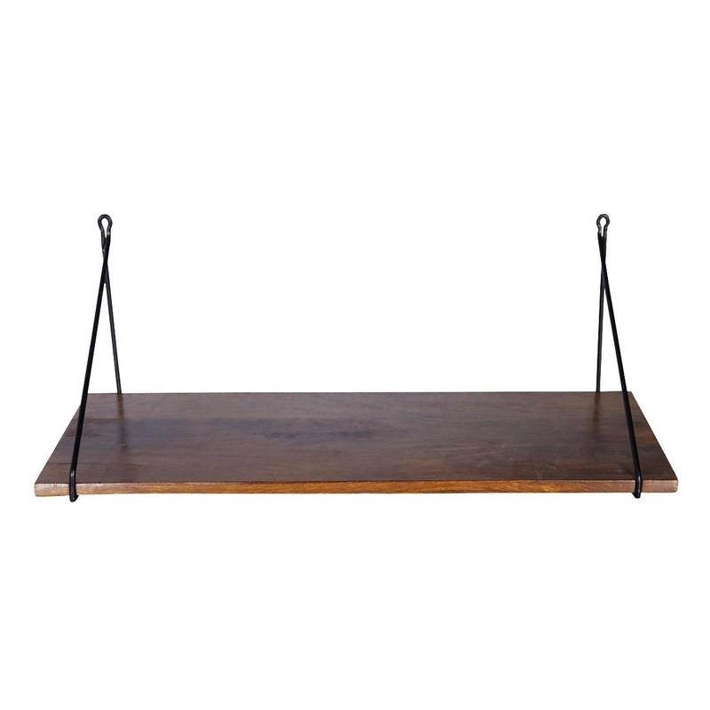 etagere murale planche de bois de manguier house doctor br0402. Black Bedroom Furniture Sets. Home Design Ideas