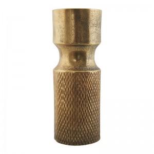 vase metal dore aluminium vintage house doctor cast Ak0800