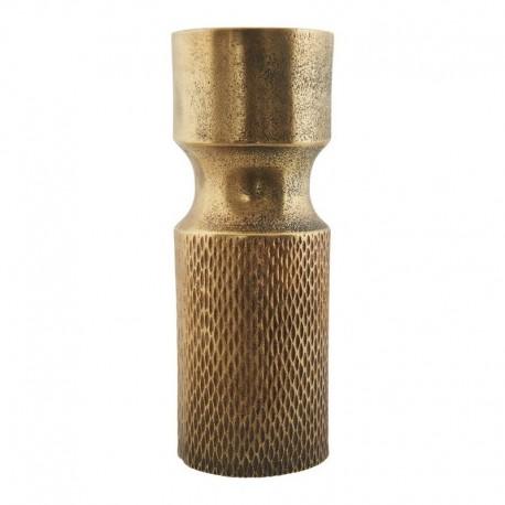 Vase métal dore aluminium vintage House Doctor Cast