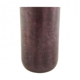 Vase en métal acier couleur aubergine House Doctor Style