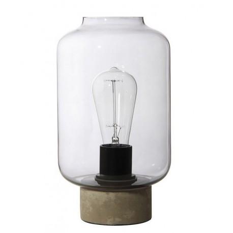lampe de table epuree verre fume marbre gris frandsen column