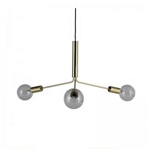 Suspension design 3 bras métal laiton doré mat antique Frandsen Grand Metro