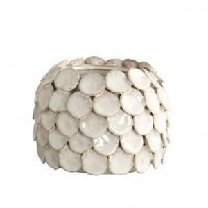 Vase céramique émaillée blanche House Doctor Dot