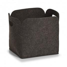 corbeille de rangement design feutrine grise anthracite zeller 14367