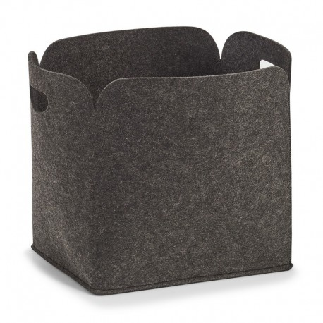 grand panier de rangement design en feutrine grise zeller 14369