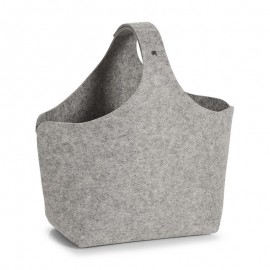 Panier de rangement original sac feutrine grise Zeller