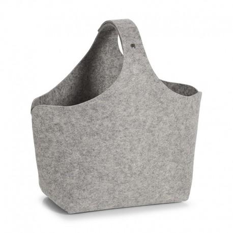 panier de rangement original sac feutrine grise zeller 14370