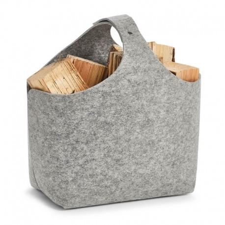 grand panier de rangement original en feutrine grise zeller 14372. Black Bedroom Furniture Sets. Home Design Ideas