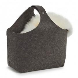 Grand panier design en feutrine gris anthracite Zeller