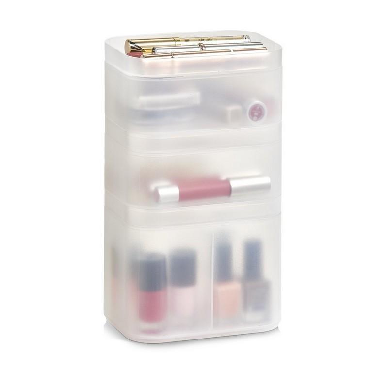 boites de rangement pour cosmetiques empilable plastique translucide zeller. Black Bedroom Furniture Sets. Home Design Ideas