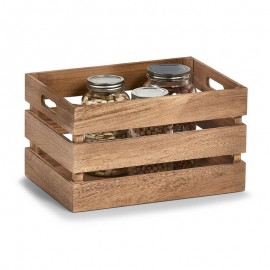 caisse de rangement en bois vintage zeller 15166
