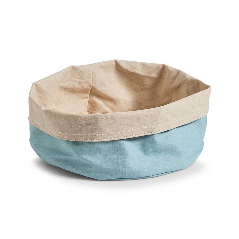 grande corbeille en tissu coton bleu menthe creme zeller 18028. Black Bedroom Furniture Sets. Home Design Ideas