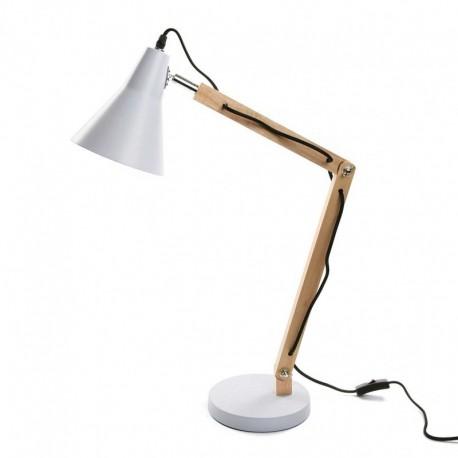 lampe de bureau design scandinave bois metal blanc versa 20960028 - Bureau Design Scandinave
