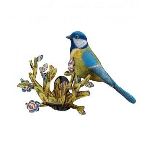 oiseau decoratif bleu miho allegra