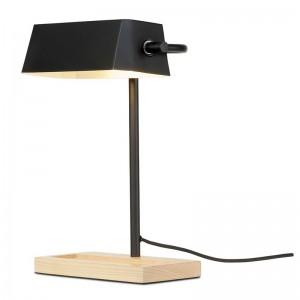 Lampe de bureau métal noir bois naturel It's about Romi Cambridge
