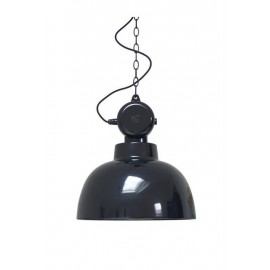 Suspension métal noir style atelier industriel HK Living Factory M