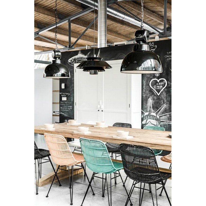 suspension metal noir atelier industriel hk living factory m vaa4010. Black Bedroom Furniture Sets. Home Design Ideas