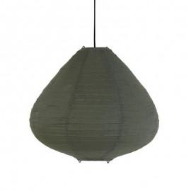 Suspension lanterne tissu coton vert kaki HK Living D 65 cm