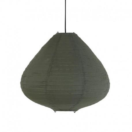 suspension lanterne tissu coton vert kaki hk living VLK2006