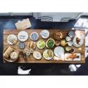 Tabouret bois de teck recyclé style campagne brut artisanal HK Living
