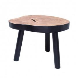table basse tronc d arbre mango brut noir hk living HAP6205