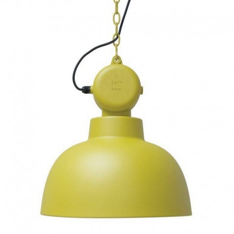 Suspension industrielle métal jaune mat HK Living Factory M
