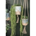 suspension pour plante en corde