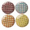 Petites assiettes multicolores Pols Potten Hippy (set de 4)